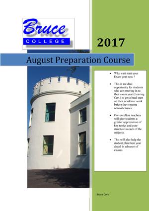 Bruce College August Preparation Courses
